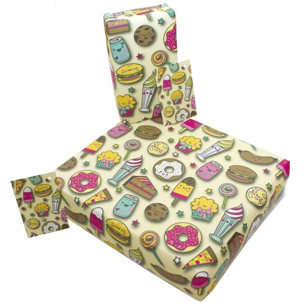 birthday wrapping paper_sweets