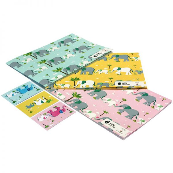new baby wrapping paper_elephants