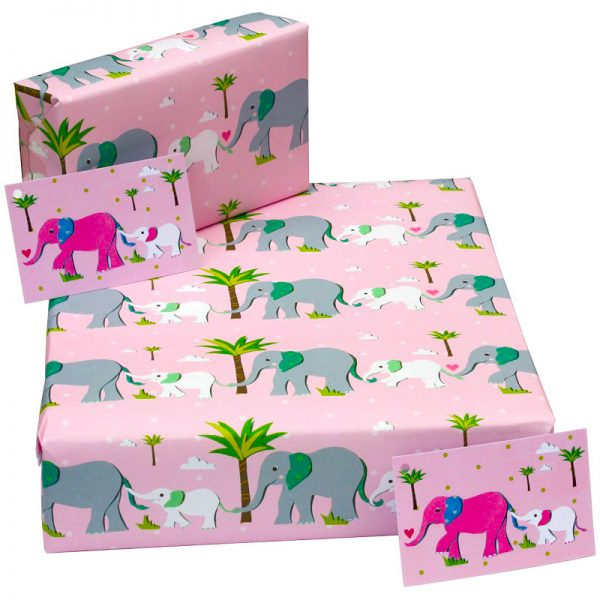 new baby wrapping paper_elephant