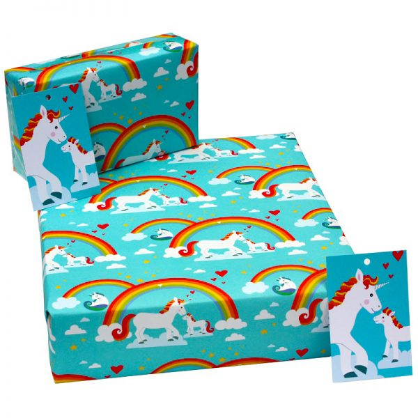 birthday wrapping paper_unicorns